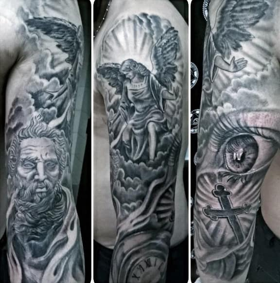 Religious Angel Tattoos For Men 100 Religious Tattoos ...