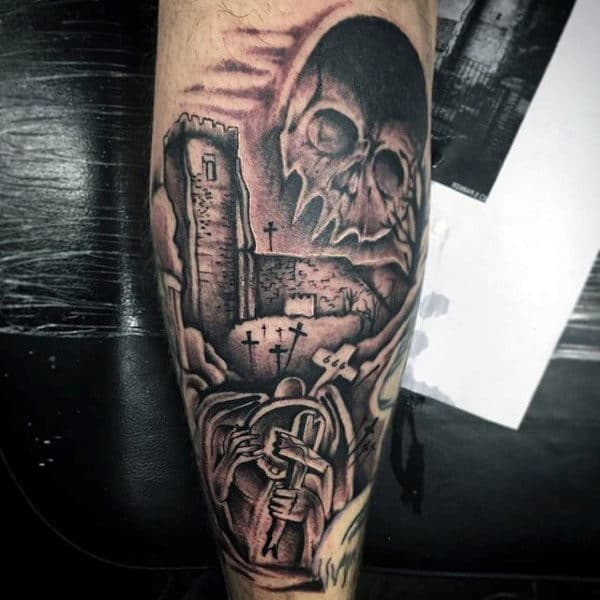 90ad8fded 90 Demon Tattoos For Men - Devilish Exterior Design Ideas
