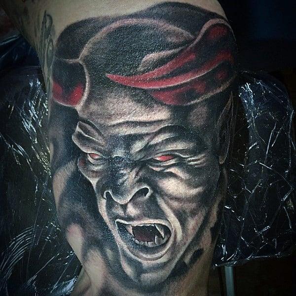 90 demon tattoos for men devilish exterior design ideas. Black Bedroom Furniture Sets. Home Design Ideas