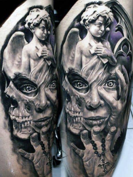 Angel Men's 3D Tattoos