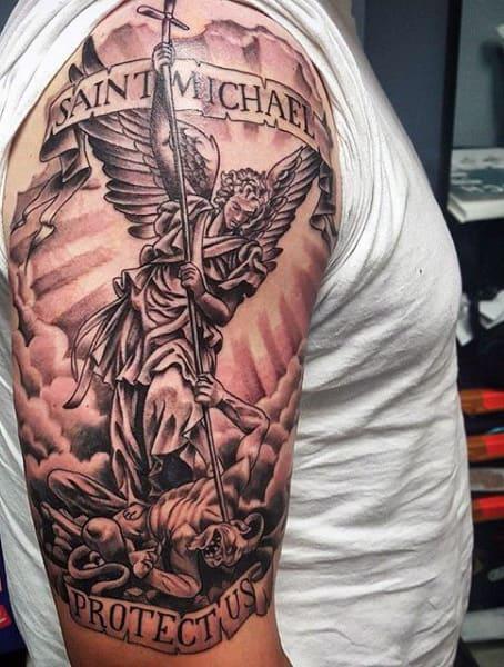 Top 73 St Michael Tattoo Ideas [2020 Inspiration Guide]