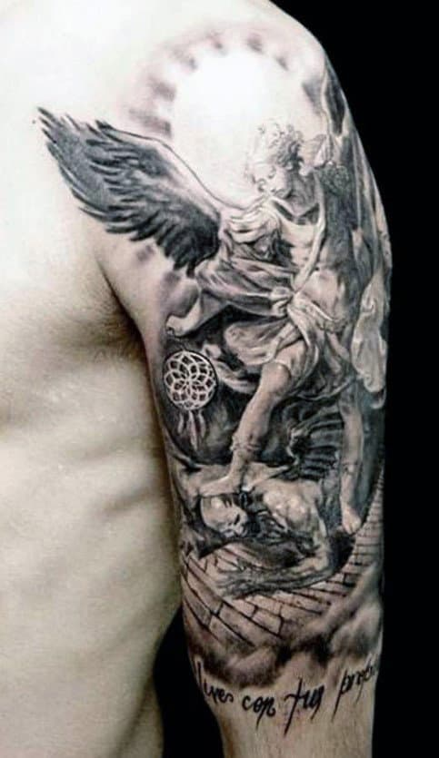 Angel Sleeve Tattoo Ideas For Men