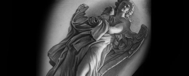 Angel Statue Tattoo Designs For Men