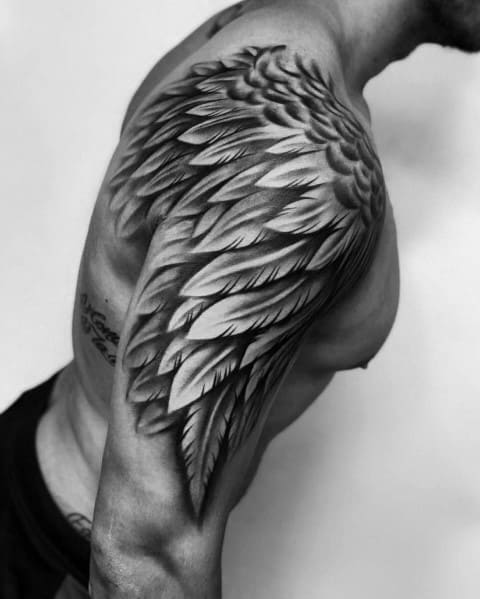 Angel Wings Shoulders Tattoos: Giant Ink Design Ideas