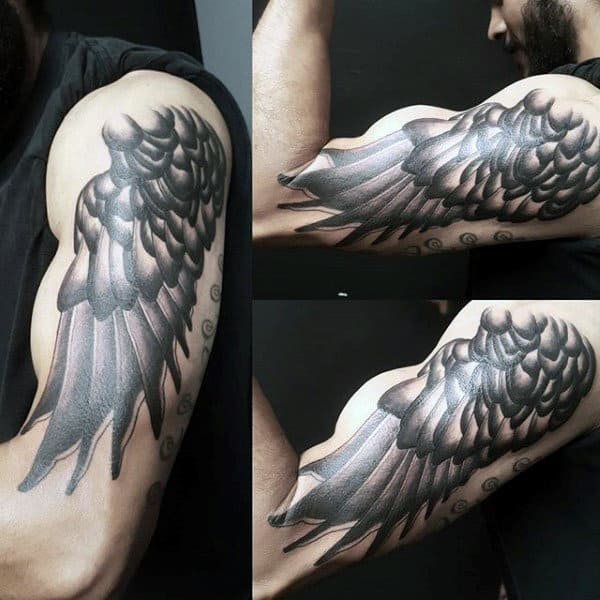 Angel Wing Artistic Mens Arm Tattoos
