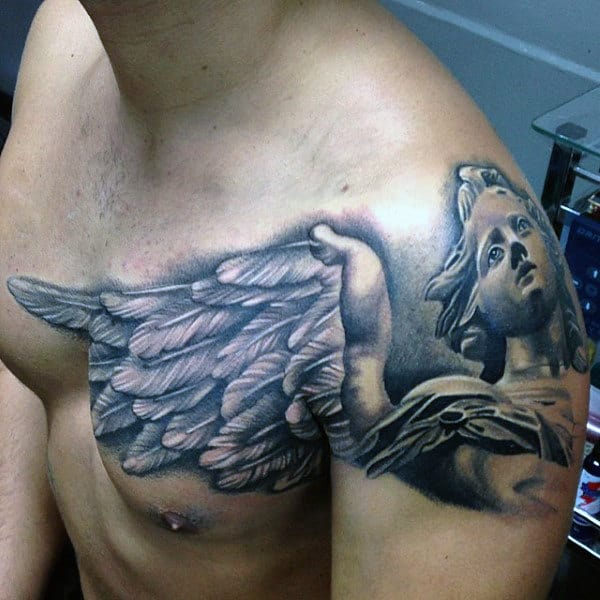 Angel Wings Crazy Mens 3d Arm And Chest Tattoos