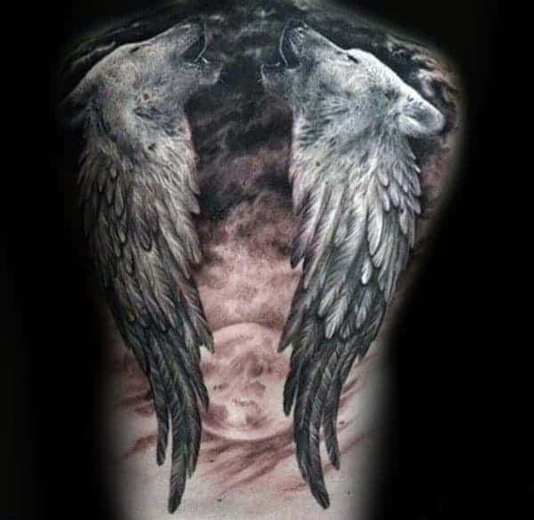 angel-wings-wolf-with-moon-mens-full-back-tattoos