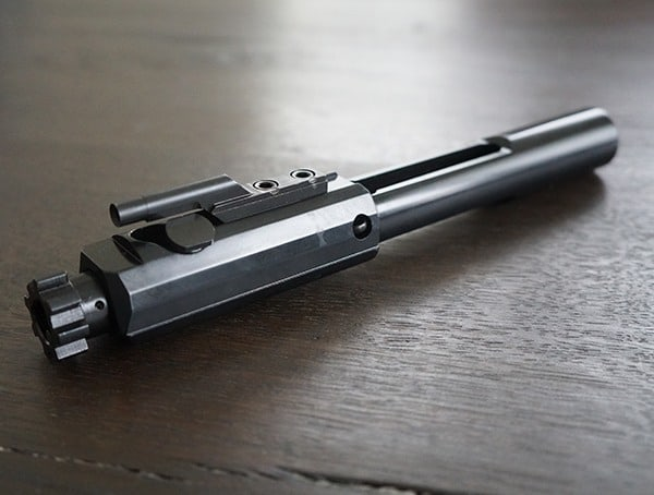Angle View Faxon Firearms 308 Full Mass Bolt Carrier Group Complete Nitride