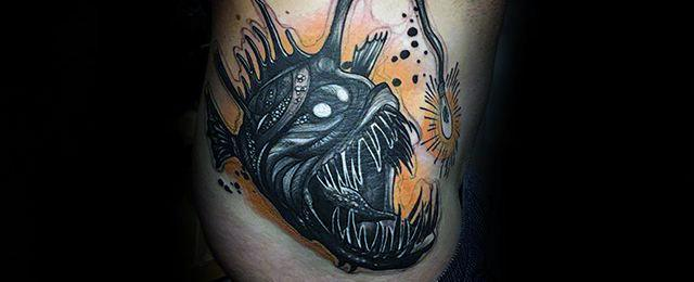 Angler Fish Tattoo Designs For Men