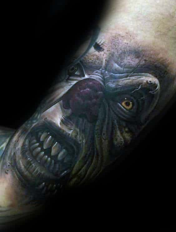 Angry Clown Mens Arm Tattoos