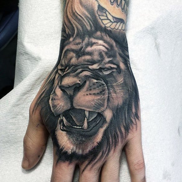 Animal Hand Tattoos For Men