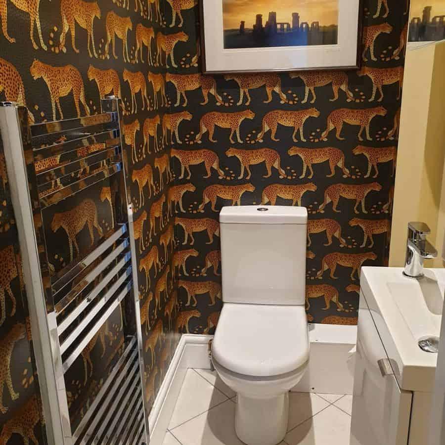 Animal Print Bathroom Wallpaper Ideas Hollysmith336