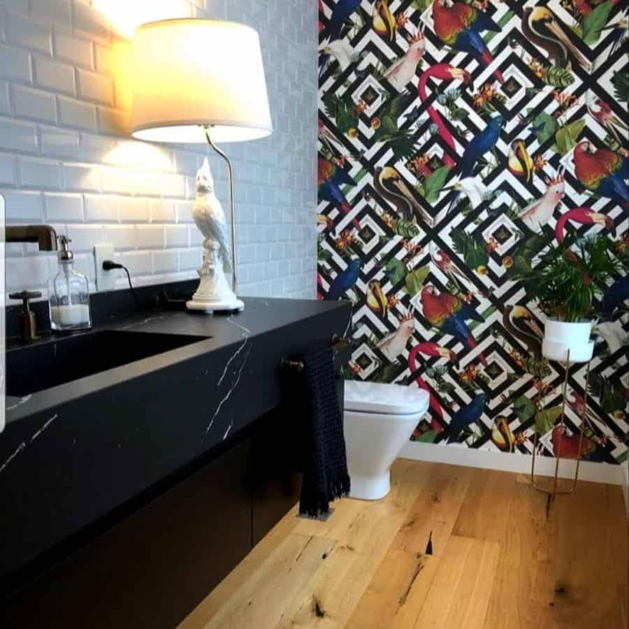 Animal Print Bathroom Wallpaper Ideas Marcegarmendia