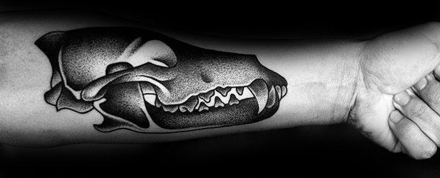 Animal Skull Tattoo Designs For Men