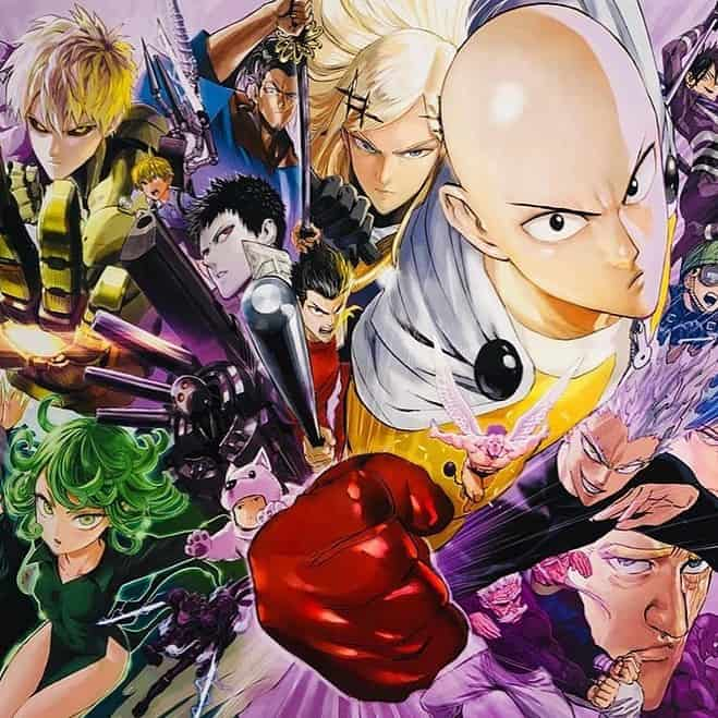 An anime character with a bald head. In anime, the bald is a sign of conviction and strength