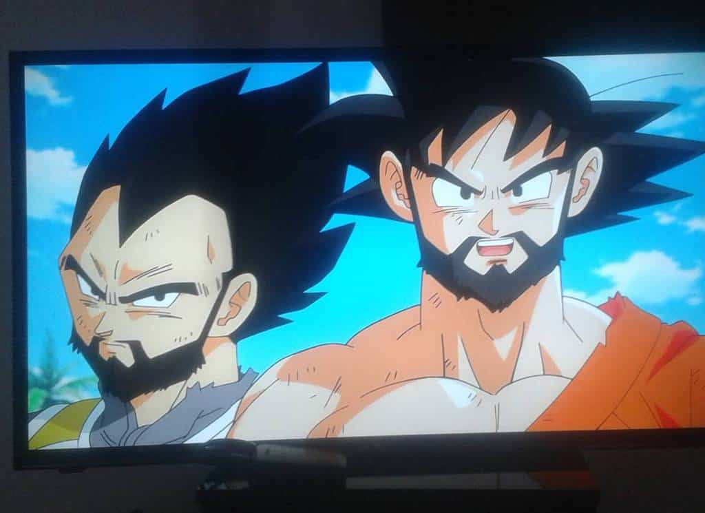 Anime Mohawk style paired with beard