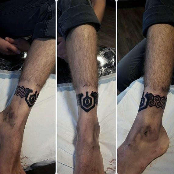 Ankle Band Guys Tattoos