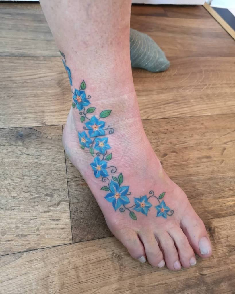 ankle forget me not tattoos armellevhentattoo