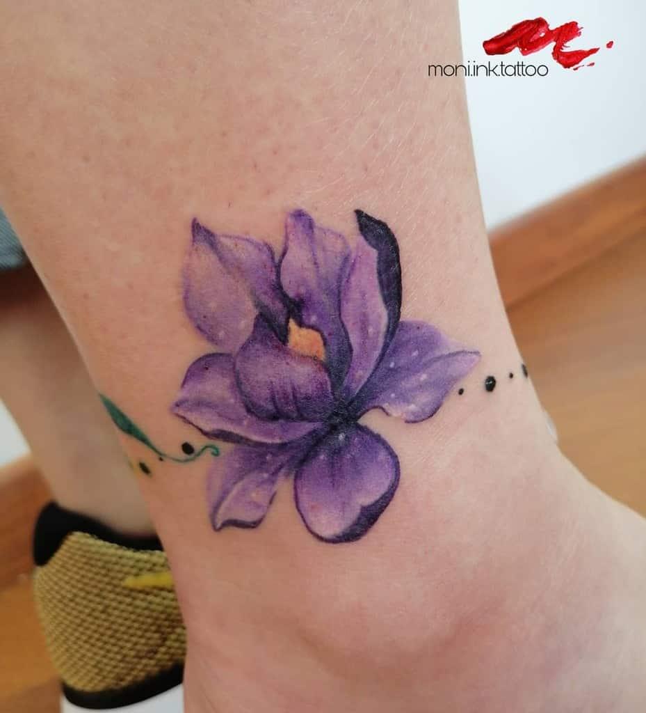 ankle magnolia tattoos moni.ink.tattoo