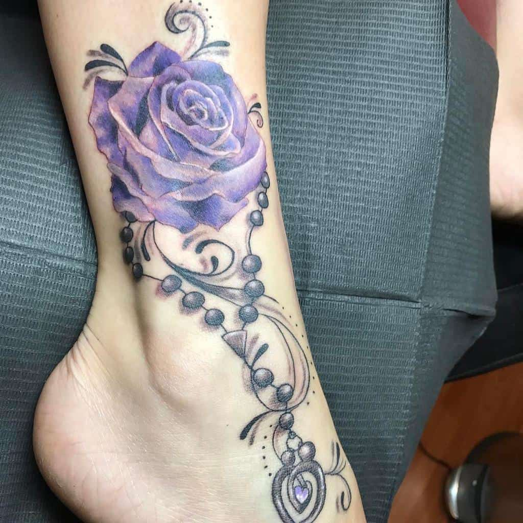 ankle purple rose tattoos luminaryink_tattoos_vermont