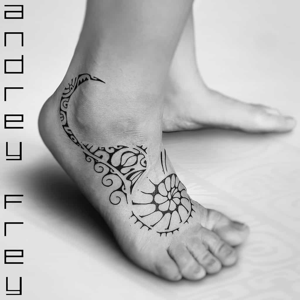 ankle simple tribal tattoos andrey.frey