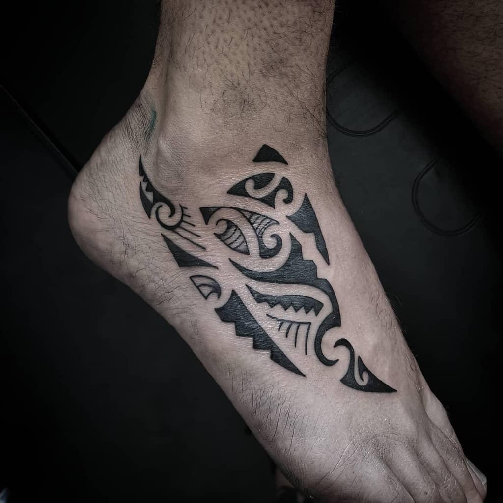 ankle simple tribal tattoos the_secret_tattooshop