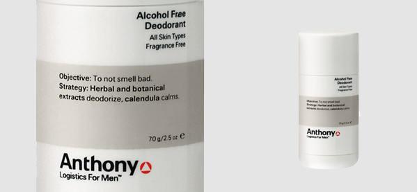 Anthony Logistics Alcohol Free Deodorant For Men