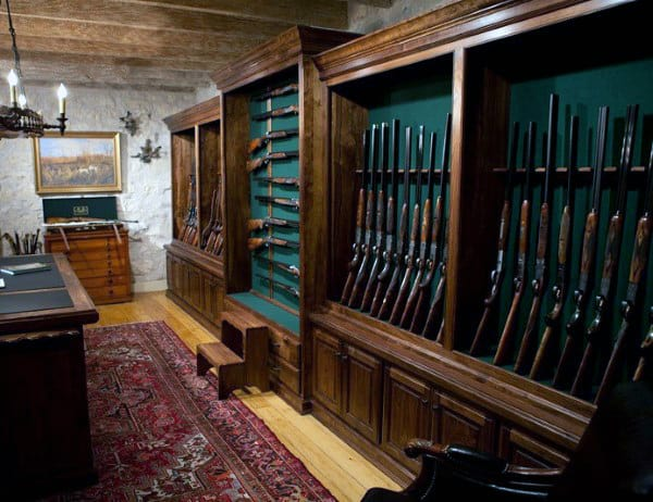 Antique Rifles Gun Room