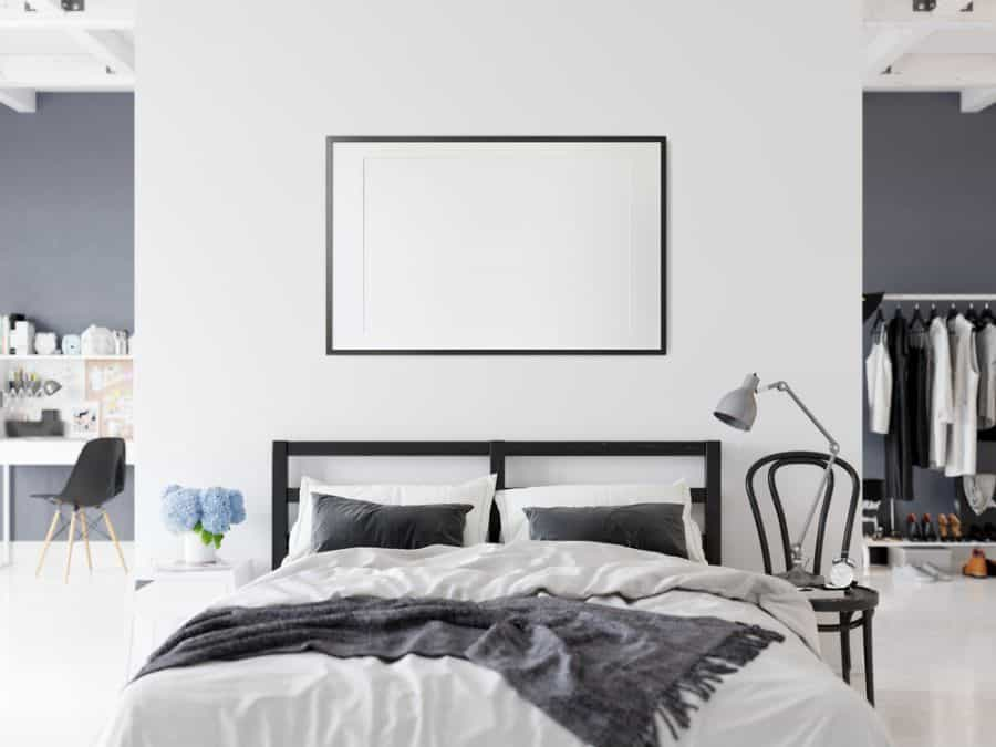 apartment black and white bedroom ideas 1