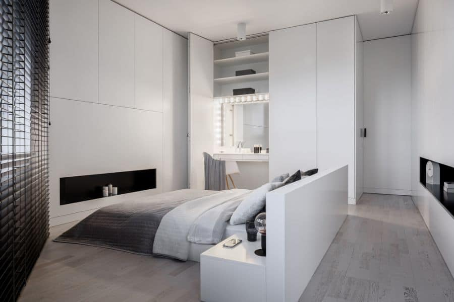 apartment black and white bedroom ideas 2