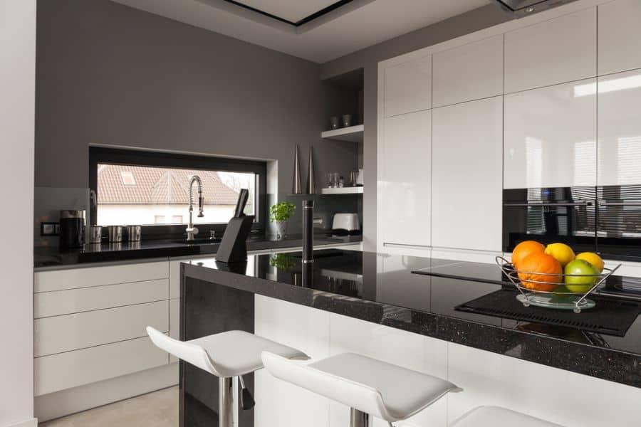 Apartment Black And White Kitchen 10