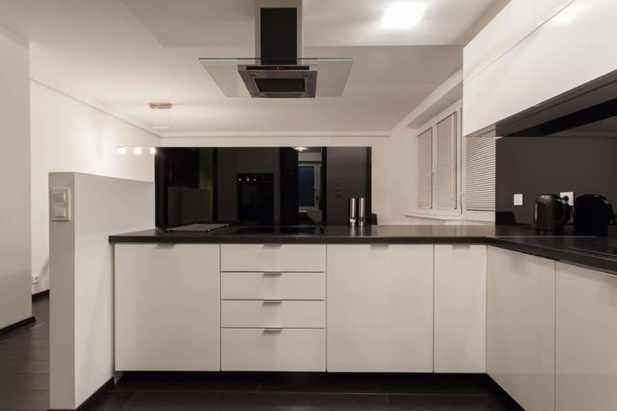 Apartment Black And White Kitchen 11