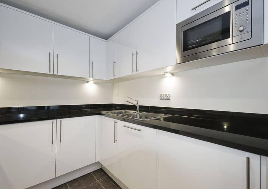 Apartment Black And White Kitchen 12
