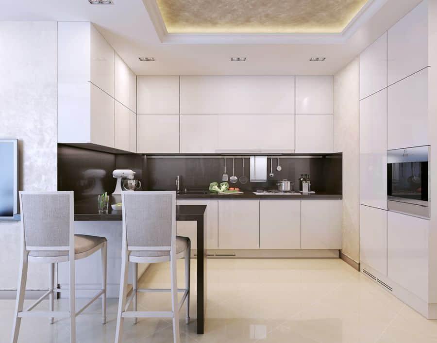 Apartment Black And White Kitchen 13
