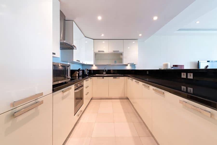 Apartment Black And White Kitchen 14
