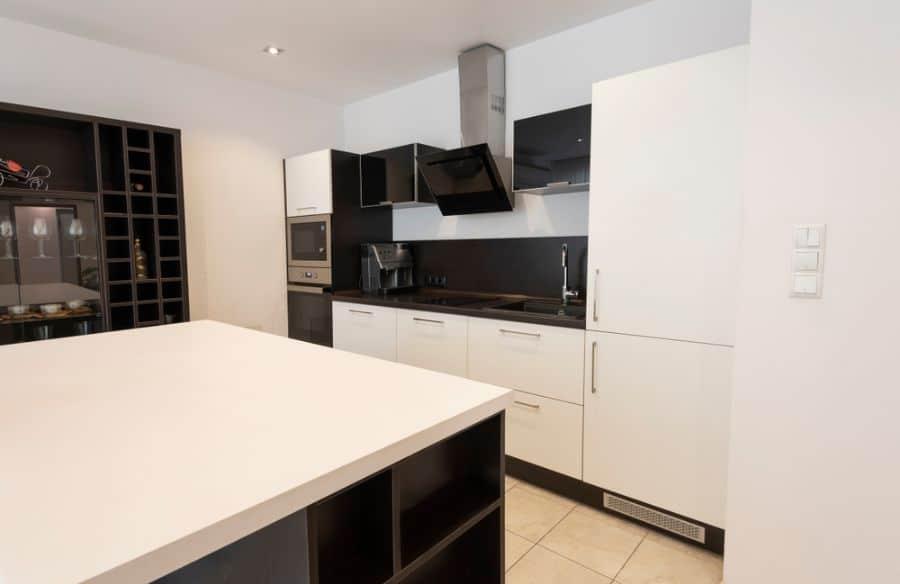 Apartment Black And White Kitchen 15