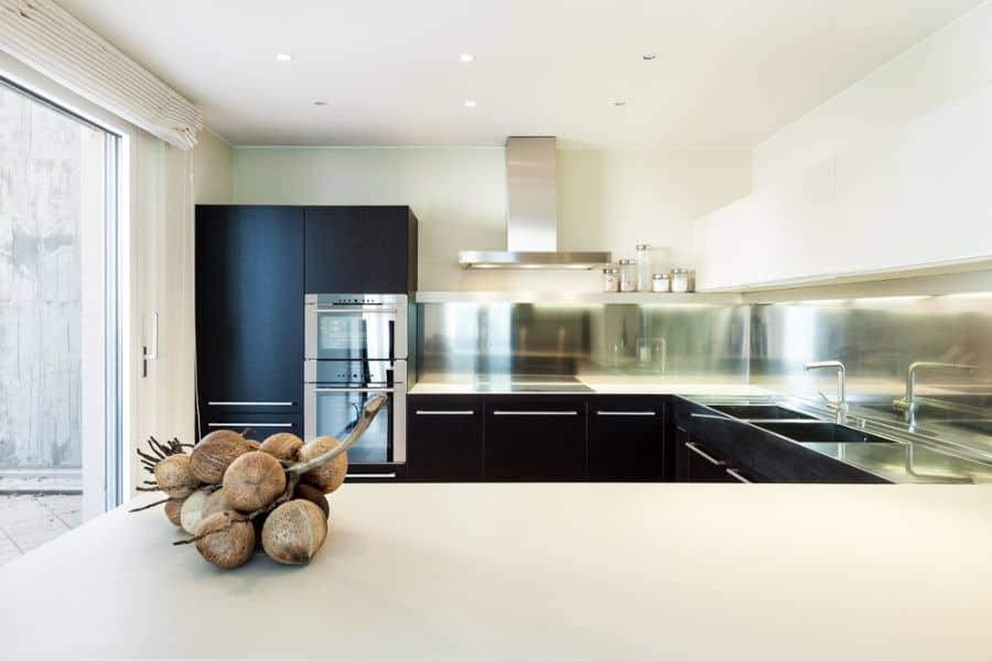 Apartment Black And White Kitchen 2