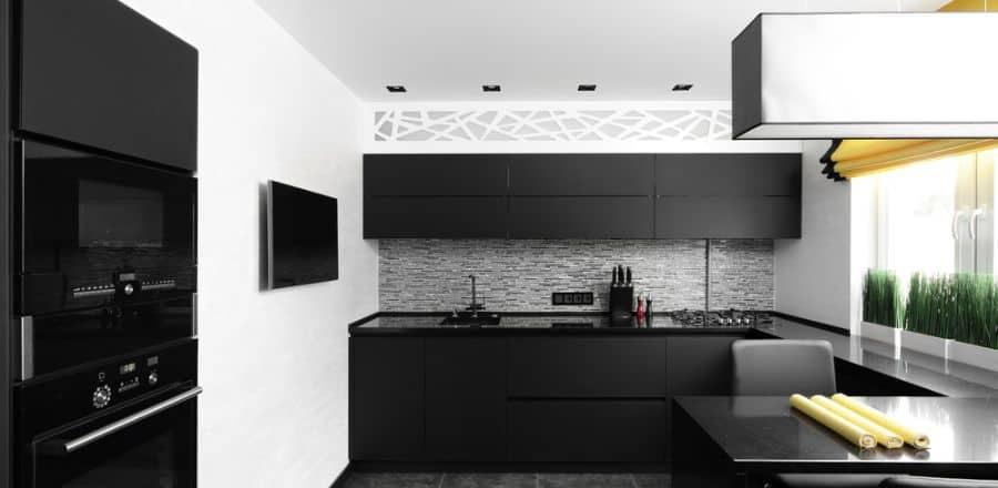 Apartment Black And White Kitchen 3