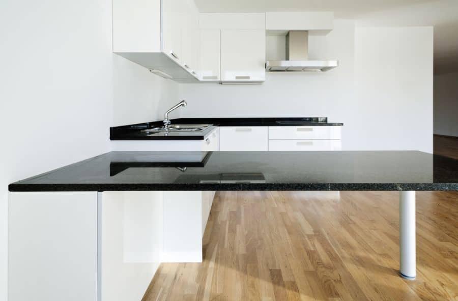 Apartment Black And White Kitchen 4