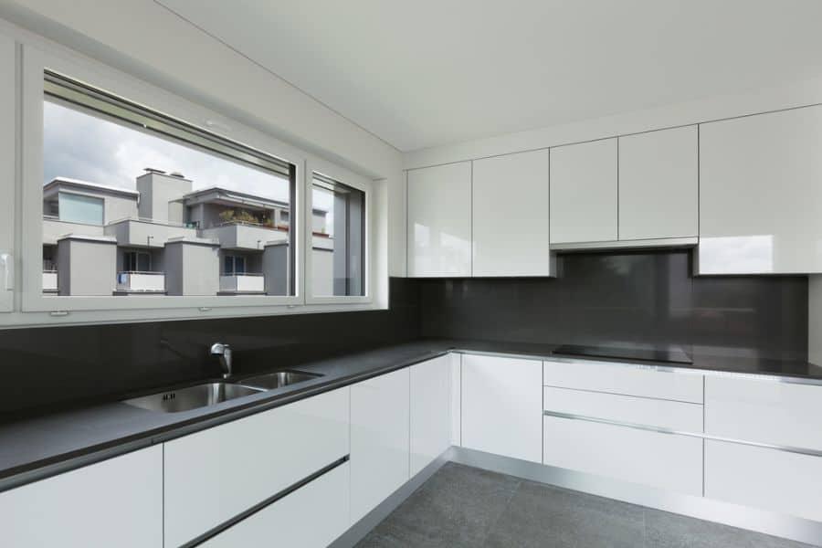 Apartment Black And White Kitchen 6