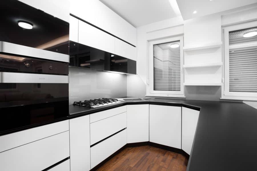 Apartment Black And White Kitchen 7
