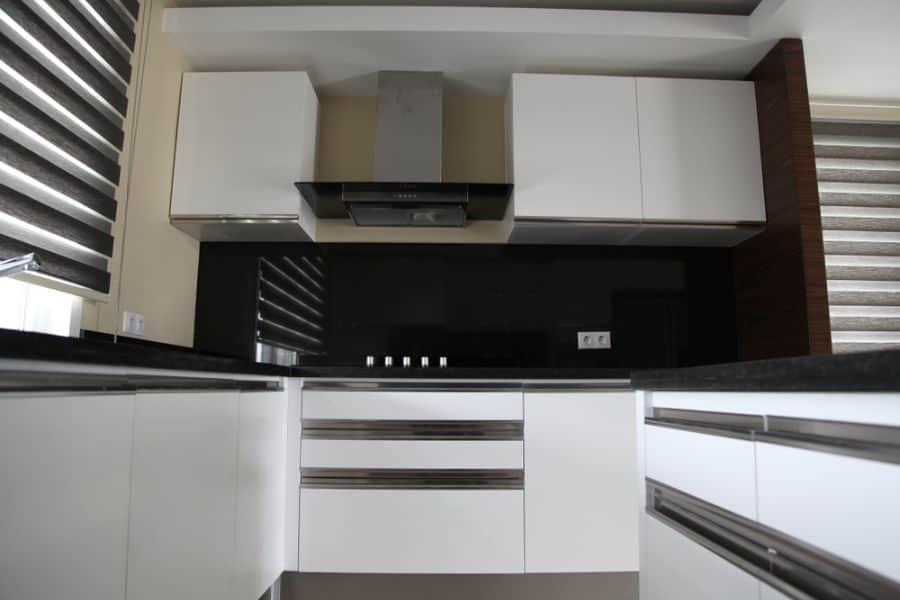 Apartment Black And White Kitchen 8