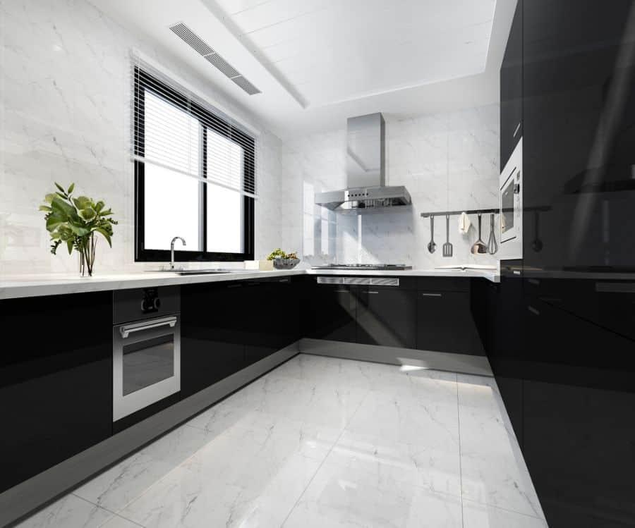 Apartment Black And White Kitchen 9