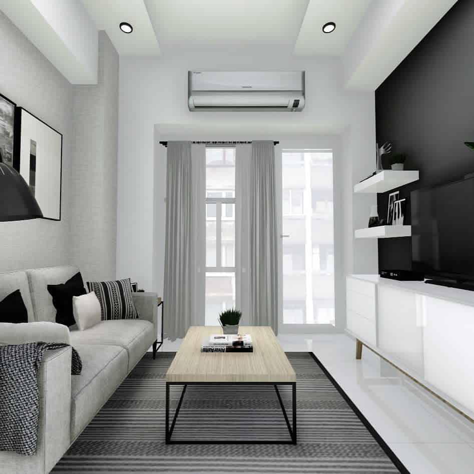Apartment Minimalist Living Room Studio.btdesigns