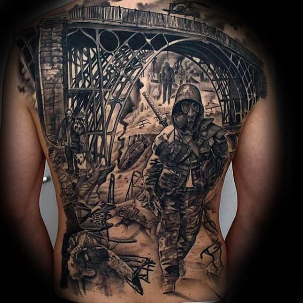 Apocalypse Life And Death Mens Full Back Tattoos
