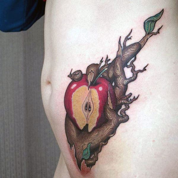 75 apple tattoo designs for men bite into ink ideas for Apple tree tattoo designs