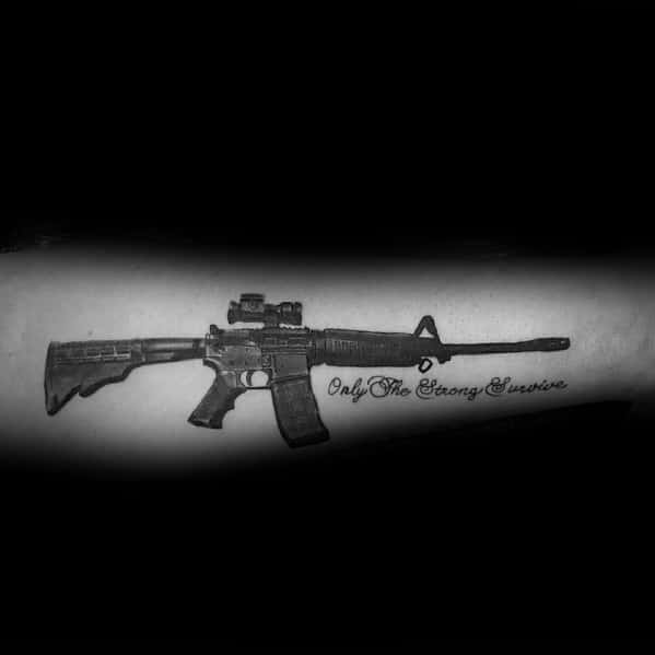 Ar 15 Tattoo Designs For Men Outer Forearm