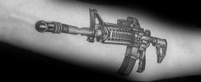 75 AR 15 Tattoo Ideas For Men – Rifle Designs