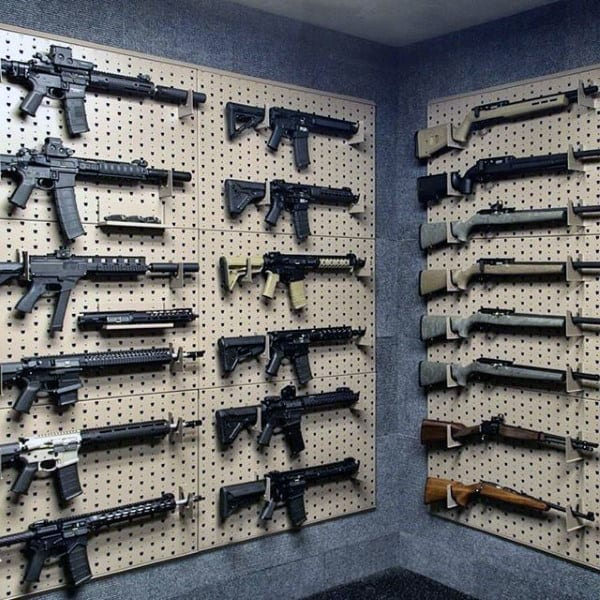 Ar Rifle Gun Room Wall Rack Designs