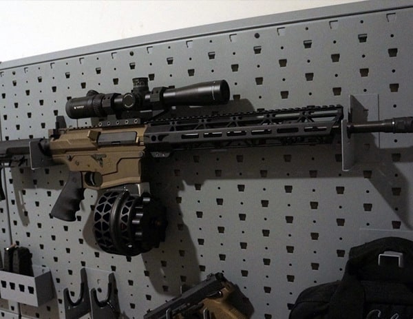 Ar10 308 Mounted On Gallow Tech Gun Safe Wall